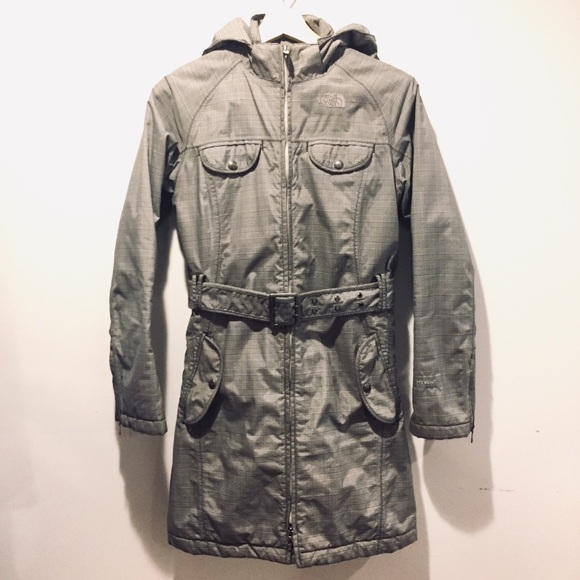 The North Face Jackets & Blazers - North Face B/W Hooded Waterproof Belted Coat XS